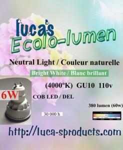 6WEcolo-lumen GU10F